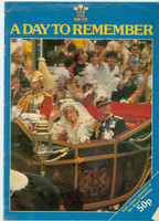The Royal Wedding of Prince Charles and Diana Spencer - A Day to Remember (32 pages) (from the Red Schoendienst collection) Very Good [Cover wear and creasing, contents fine]