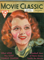 1931 Movie Classic Magazine (NOV - 84 pages) ft: Janet Gaynor (Cover) and story on the Notre Dame movie just after Rockne's death.  (from the Red Schoendienst collection) Excellent [Wear and slight split along part of binding, minor scuffing, year WR