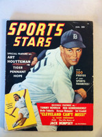 1950 August Sports Stars Magazine- loaded with photos and features (100 pages) (from the Red Schoendienst collection) Very Good [Wear, scuffing and creasing on cover; contents clean]