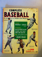 1951 Complete Baseball (84 pages) - loaded with photos and features including Jackie Robinson (from the Red Schoendienst collection) Very Good [Wear, staining and creasing on cover; contents clean]