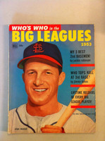 1953 Dell Who's who in the Big Leagues (100 pages) - loaded with rost information, stats and photos of all major leaguers (from the Red Schoendienst collection) Very Good to Excellent [wear and scuffing on cover, contents fine]