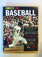 Complete 1961 Baseball (98 pages) - loaded with photos and features inc Ted Williams, Warren Spahn, Durocher, Stengel (from the Red Schoendienst collection) Very Good to Excellent [Wear, scuffing and creasing on cover; contents clean]