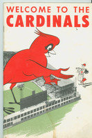 1954 St. Louis Cardinals Team-Issued booklet (42 pg) 'Welcome to the Cardinals' given to all St Louis Players and empoyees (from the Red Schoendienst collection)