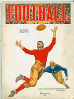 1931 Football Review ft: Highlights, Photos, Season in Review (from the Red Schoendienst collection) Very Good [Binding nearly half split with heavy wear, cover wear, name sticker present; contents fine]