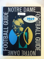 1969 Notre Dame Football Guide (90 pages - features, player profiles, stats, photos) (from the Red Schoendienst collection) Near-Mint [Lt wear and sl corner crease on cover, name sticker on cover; very clean]