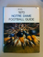 1970 Notre Dame Football Guide (90 pages - features, player profiles, stats, photos) (from the Red Schoendienst collection) Excellent [Lt wear and sl corner crease on cover, name sticker on cover; very clean]