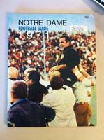 1971 Notre Dame Football Guide (90 pages - features, player profiles, stats, photos) (from the Red Schoendienst collection) Near-Mint [Very clean, name sticker on cover]