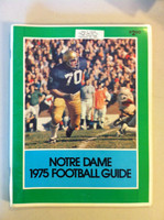 1975 Notre Dame Football Guide (96 pages - features, player profiles, stats, photos) (from the Red Schoendienst collection) Near-Mint [Sl bruising on cover, name sticker on cover; contents great]