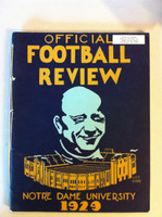 1929 Notre Dame Football Review ft: Coach Knute Rockne (98 pages - features, player profiles, stats, photos) (from the Red Schoendienst collection) Excellent [Sl corner crease on cover, name sticker on cover; ow very clean]