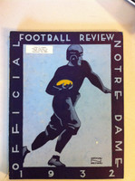 1932 Notre Dame Football Team Yearbook and Review (114 pages - features, player profiles, stats, photos) (from the Red Schoendienst collection) Very Good to Excellent [Wear and sl peeling along binding, name sticker on cover, ow clean]