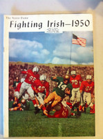 1950 Notre Dame Fighting Irish Team Yearbook and Review (50 pages - features, player profiles, stats, photos) (from the Red Schoendienst collection) Very Good to Excellent [Sl bend along top edge, name sticker on cover; small cover stain]