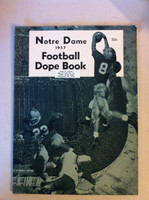 1957 Notre Dame Football Dope Book (48 pages - features, player profiles, stats, photos) (from the Red Schoendienst collection) Excellent [Sl curl along top edge from storage, name sticker on cover; ow clean]