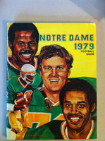 1979 Notre Dame Football Guide (98 pages - features, player profiles, stats, photos) (from the Red Schoendienst collection) Near-Mint to Mint [Very clean example]