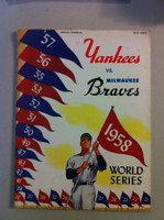 1958 World Series Program - Braves at Yankees UNSCORED (from the Red Schoendienst Collection) Very Good