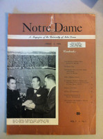 1954 Notre Dame Magazine (Spring 1954) (20 pages) (from the Red Schoendienst collection) Very Good [Heavy curl on top of book, cover wear, name sticker on cover]