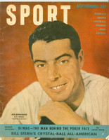 1949 Sport Magazine September Joe DiMaggio - from the Red Schoendienst collection Very Good