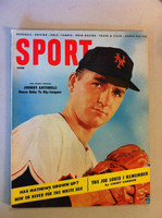 1955 Sport Magazine June Johnny Antonelli (from the Red Schoendienst collection) Excellent