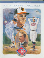 1996 Cooperstown Hall of Fame Induction Yearbook (154 pages) ft:  Earl Weaver, Jim Bunning plus 2 - Loaded with photos, stats and information about all HOFers Near-Mint