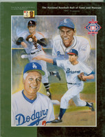 1997 Cooperstown Hall of Fame Induction Yearbook (162 pages) ft:  Tommy Lasorda, Nellie Fox, Phil Niekro plus 1 - Loaded with photos, stats and information about all HOFers Near-Mint to Mint