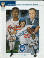 1998 Cooperstown Hall of Fame Induction Yearbook (162 pages) ft:  Don Sutton, Larry Doby plus 3 - Loaded with photos, stats and information about all HOFers Near-Mint