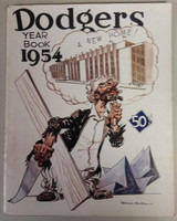 1954 Dodgers Yearbook (from Dodgers' manager Walter Alston's Personal Collection - LOA from Alston family) Good Cover detached but present, split on binding, contents fine