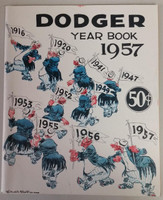1957 Dodgers Yearbook - Last Year in Brooklyn! (from Dodgers' manager Walter Alston's Personal Collection - LOA from Alston family) Excellent Very lt wear on cover, overall very clean