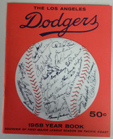 1958 Dodgers Yearbook - First Year in LA! (from Dodgers' manager Walter Alston's Personal Collection - LOA from Alston family) Near-Mint to Mint Super clean, like new