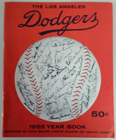 1958 Dodgers Yearbook - First Year in LA! (from Dodgers' manager Walter Alston's Personal Collection - LOA from Alston family) Excellent to Mint Scuffing on front cover, contents very clean