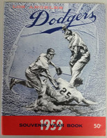 1959 Dodgers Yearbook - World Champions! (from Dodgers' manager Walter Alston's Personal Collection - LOA from Alston family) Near-Mint Plus Very lt wear on cover, overall very clean