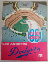 1961 Dodgers Yearbook (from Dodgers' manager Walter Alston's Personal Collection - LOA from Alston family) Very Good Heavy scuffing on cover, 3 in split on binding; contents fine
