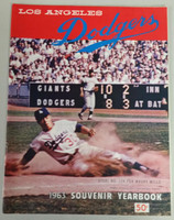 1963 Dodgers Yearbook - World Champions! (from Dodgers' manager Walter Alston's Personal Collection - LOA from Alston family) Near-Mint Scuffing and lt creasing on cover; contents very clean