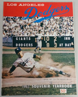1963 Dodgers Yearbook - World Champions! (from Dodgers' manager Walter Alston's Personal Collection - LOA from Alston family) Near-Mint to Mint Super clean, like new
