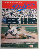 1963 Dodgers Yearbook - World Champions! (from Dodgers' manager Walter Alston's Personal Collection - LOA from Alston family) Excellent to Mint Scuffing and lt creasing on cover; contents very clean