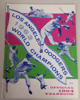 1964 Dodgers Yearbook (from Dodgers' manager Walter Alston's Personal Collection - LOA from Alston family) Excellent Heavy scuffing on cover, toning on rev cover; contents fine