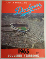 1965 Dodgers Yearbook - World Champions! (from Dodgers' manager Walter Alston's Personal Collection - LOA from Alston family) Near-Mint Very lt wear on cover, overall very clean