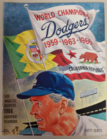 1966 Dodgers Yearbook - NL Pennant Winners! (from Dodgers' manager Walter Alston's Personal Collection - LOA from Alston family) Near-Mint to Mint Super clean, like new