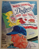 1966 Dodgers Yearbook - NL Pennant Winners! (from Dodgers' manager Walter Alston's Personal Collection - LOA from Alston family) Sharp! Near-Mint to Mint Super clean, like new