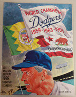 1966 Dodgers Yearbook - NL Pennant Winners! (from Dodgers' manager Walter Alston's Personal Collection - LOA from Alston family) Like New! Near-Mint to Mint Super clean, like new