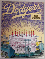 1971 Dodgers Yearbook (from Dodgers' manager Walter Alston's Personal Collection - LOA from Alston family) Near-Mint to Mint Super clean, like new
