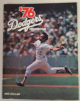 1976 Dodgers Yearbook (from Dodgers' manager Walter Alston's Personal Collection - LOA from Alston family) Near-Mint Very lt wear on cover, overall very clean
