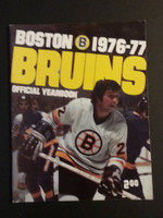 1976-77 Boston Bruins Yearbook Near-Mint