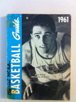 1961 Official NCAA Basketball Guide (194 pg) (Dick Hickox, Miami on cover) Fair to Poor [Wear on cover, tape residue across binding, contents fine]
