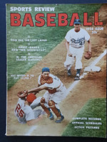 1956 Sports Review Baseball Annual Dixie Howell - Gus Bell Very Good
