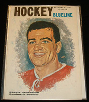 1957 December Blueline Hockey Magazine Bernie Geoffrion Montreal Canadiens