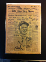 1962 Sporting News February 28 Roger Maris : staining on cover, contents fine Good to Very Good