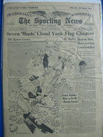 1960 Sporting News March 30 1960 Yankees : heavy creasing on the cover - contents fine Good to Very Good
