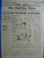 1960 Sporting News August 3 Cookie Lavagetto : sl soiling on cover - contents fine Good to Very Good