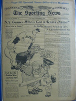 1960 Sporting News November 2 American League Expansion Very Good