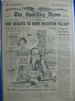 1960 Sporting News November 9 George Weiss Very Good