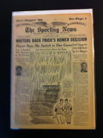 1961 Sporting News August 9 Ford Frick : pen mark on cover, ow excellent Good to Very Good